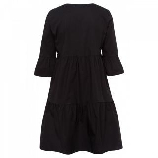 Rochie din bumbac-negru-