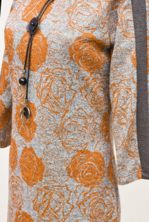 Rochie midi cu imprimeu floral marimi mari