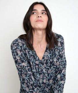 Rochie midi din vascoza cu imprimeu floral