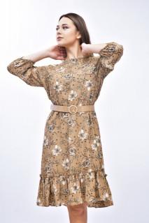 Rochie mini eleganta cu imprimeu floral - bej