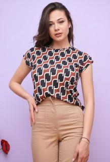 Tricou dama cu imprimeu geometric