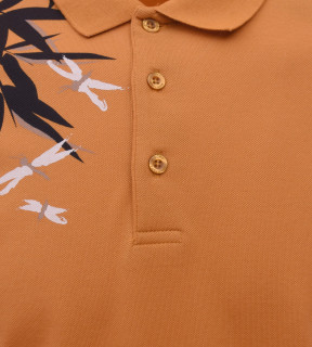 Tricou Polo Barbati Regular Fit Tony Montana- Leaf -mustar