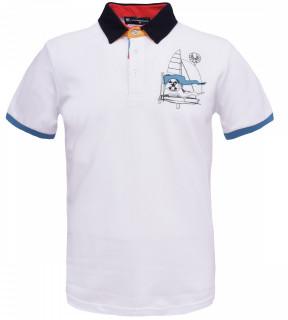 Tricou Polo Barbati Regular Tony Montana Sail- alb