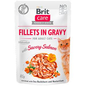 BRIT CARE CAT FILLETS IN GRAVY CU SOMON