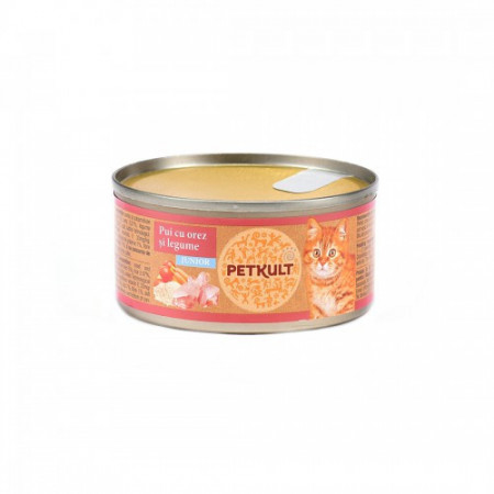Hrana umeda pentru pisici Petkult Kitten cu pui 80 g