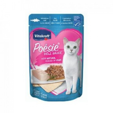 Hrana umeda pentru pisici Vitakraft Poesie Plic Cod in sos 85 g
