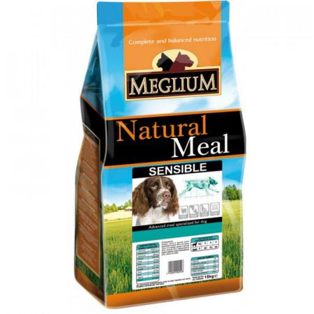 MEGLIUM Dog Sensible Miel&Orez  Hrană completă pentru câini adulți.