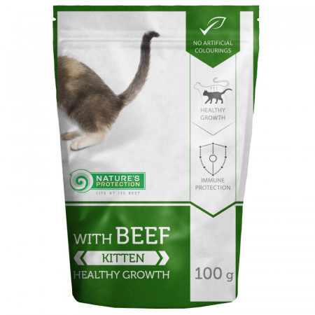 NATURES PROTECTION Kitten with Beef (100g)