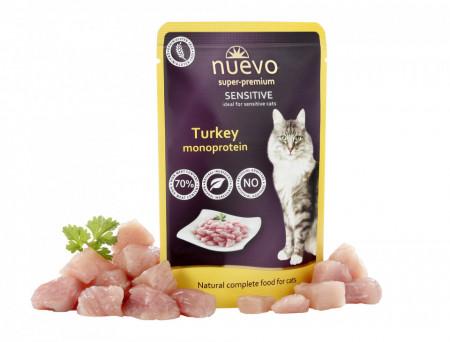 Nuevo Cat Sensitive Monoprotein curcan 85 gr