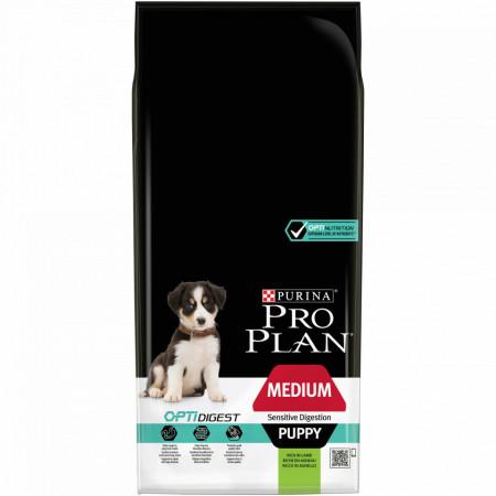 Purina Pro Plan Medium Puppy Digestie Sensibila cu Miel
