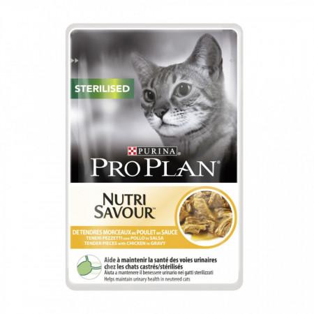 Purina Pro Plan Sterilised NUTRISAVOUR cu Pui