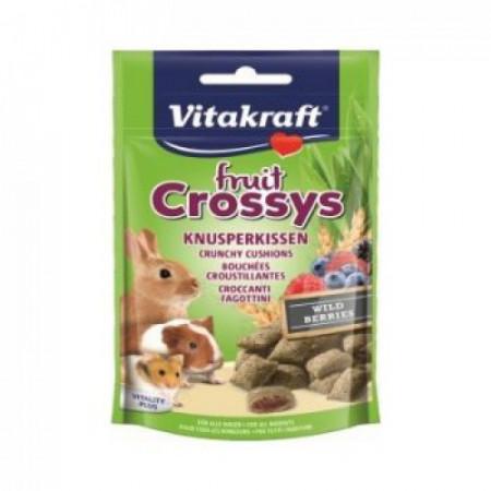Recompense pentru rozatoare Vitakraft Fruit Crossys Snack Wildberry 50 g