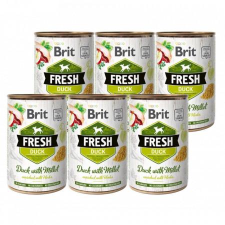 Brit FreshDuck with Millet6 x 400 gr