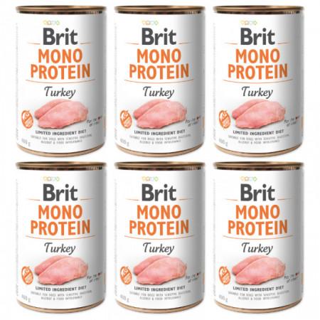 Brit Mono Protein Turkey 6 x 400 gr