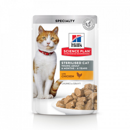 Hill's SP Young Adult Sterilised cu Pui 85 g