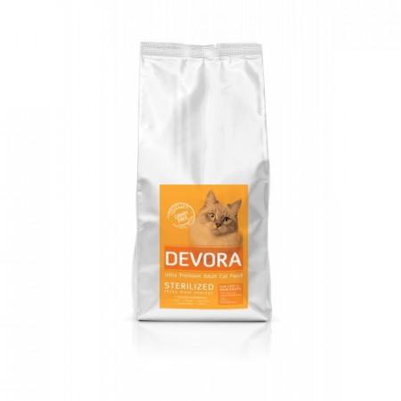 Hrana pisici Devora Grain Free Sterilizat curcan pui si hering 7.5 kg
