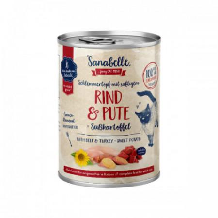 Hrana umeda Sanabelle cu Vita si Curcan 380 gr