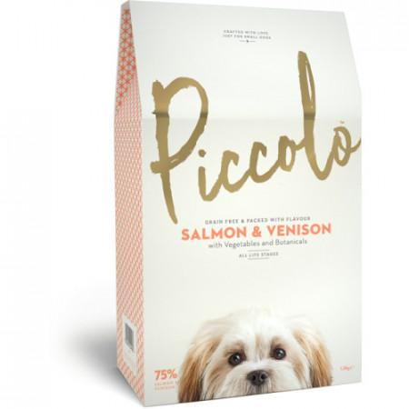 Hrana uscata pentru caini Piccolo cu somon si vanat 750 g