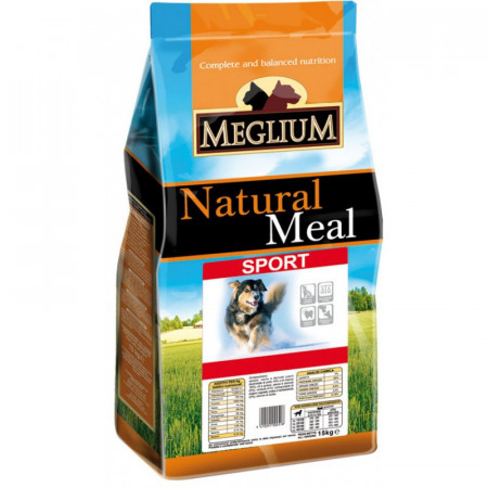 MEGLIUM Dog Sport  Hrană completă pentru câini cu nivel ridicat de activitate.