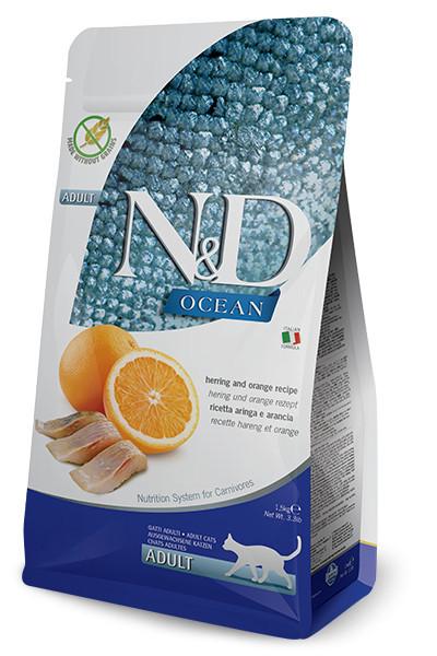 N&D Ocean Cat cu hering și portocală