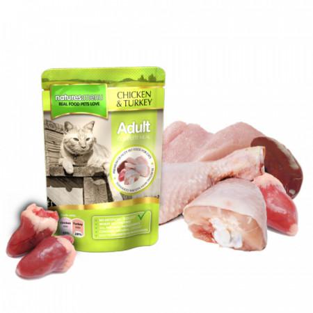 NATURES MENU CAT CHICKEN & TURKEY (100 gr.)