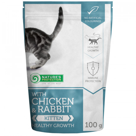 NATURES PROTECTION Kitten with Chicken & Rabbit (100 g)