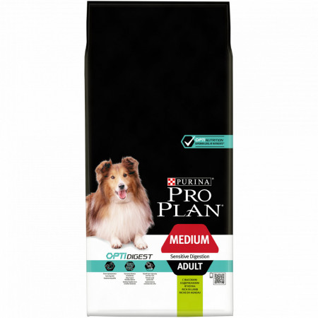 Purina Pro Plan Medium Adult Digestie Sensibila cu Miel