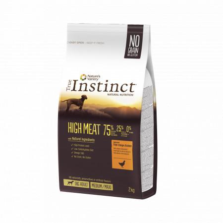 True Instinct High Meat Dog Medium - Maxi Adult cu pui 2 kg