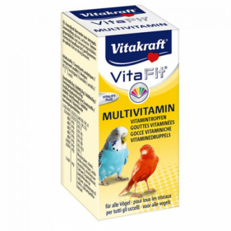 Vitamine pentru pasari exotice Vitakraft Vitafit Multivitamin 10 ml