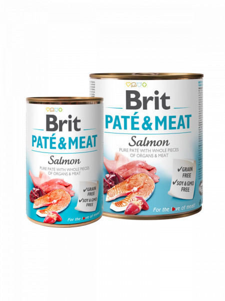 Brit Pate and Meat Salmon 800 gr + 400 gr