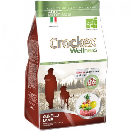 Crockex Wellness Dog Adult Medium-Maxi Lamb & Rice 12kg