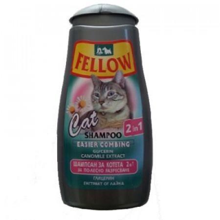 Sampon pentru pisici Fellow, 2 in 1, 250 ml