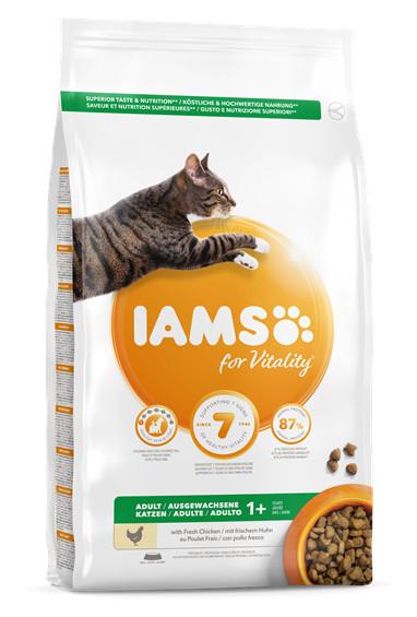 Hrană IAMS Vitality pentru pisici adulte pui proaspat