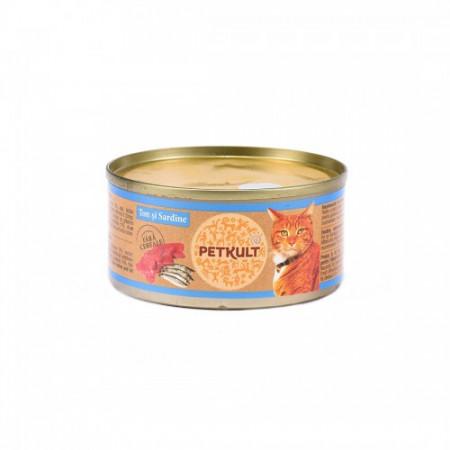 Petkult Cat Ton cu Sardine 80 g