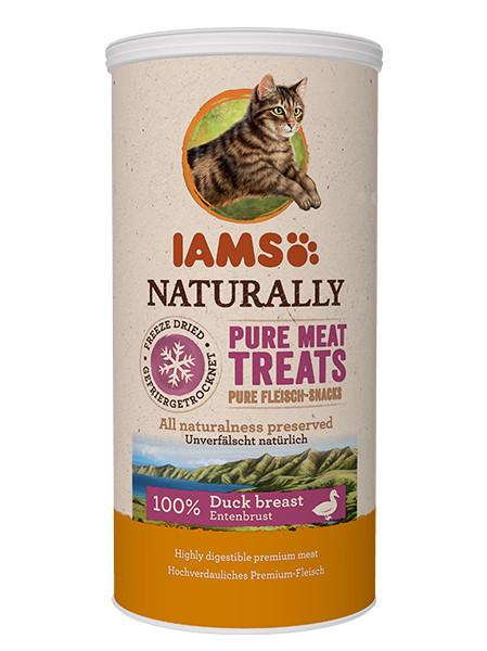 Recompensa pisici IAMS Cat Freeze Dried cu Rata