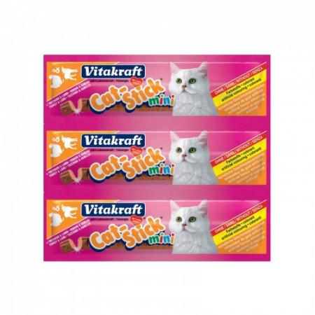 Recompense pentru pisici Vitakraft cu curcan si miel 3 bucati