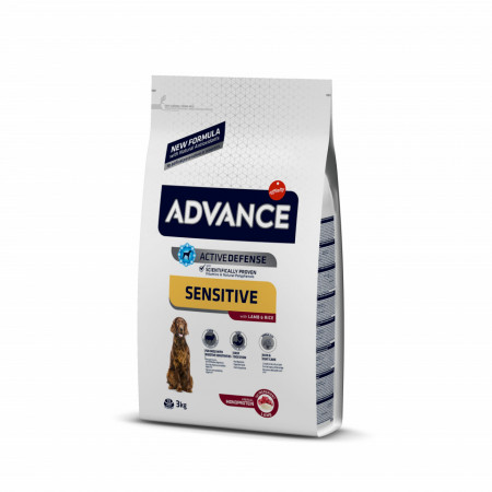 Advance Dog Sensitive Miel și Orez 3 kg