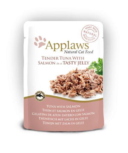 Applaws CAT hrană umedă cu fileuri de ton și somon în aspic
