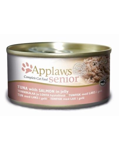 Applaws Senior CAT hrană umedă cu ton și somon în aspic