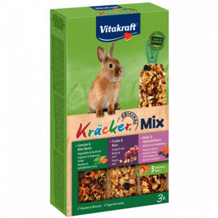 Baton pentru iepuri Vitakraft Kracker Trio Mix 168 g