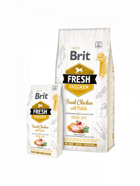 Brit Fresh Chicken and Potato Adult 12 kg