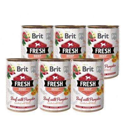 Brit Fresh Beef with Pumpkin 6 x 400 gr