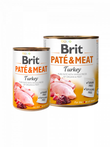 Brit Pate and Meat Turkey 800 gr + 400 gr