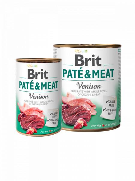 Brit Pate and Meat Venison 800 gr + 400 gr
