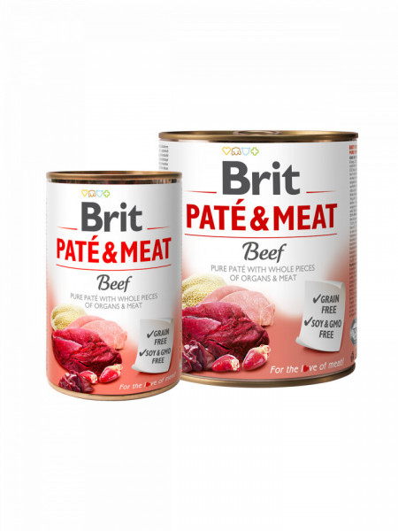 Brit Pate and Meat Beef800 gr + 400 gr