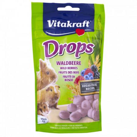 Drops pentru porcusori de Guineea Vitakraft Wild Berries 75g