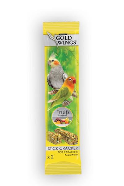 GOLD WINGS CLASSIC PARAKEET/NIMFA FRUIT DUO STICK