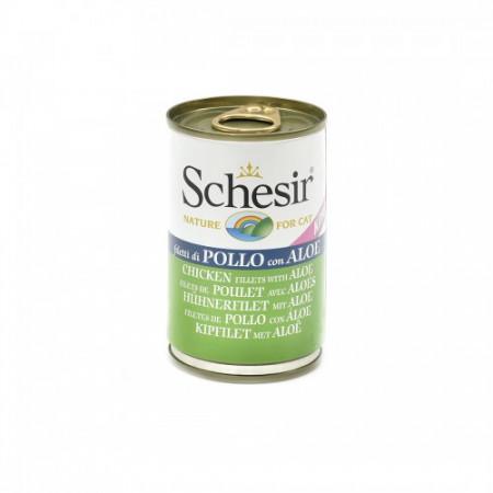 Hrana umeda pisici Schesir pui si aloe