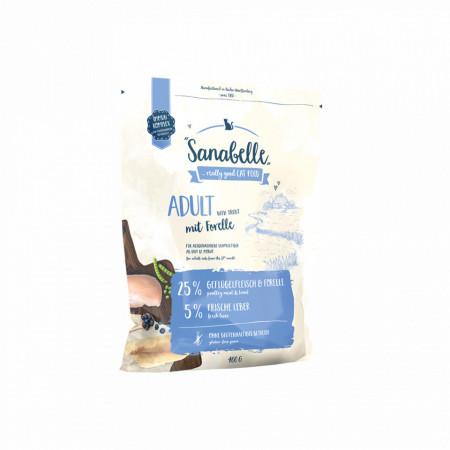 Hrana uscata pentru pisici Sanabelle Adult cu pastrav 400 gr