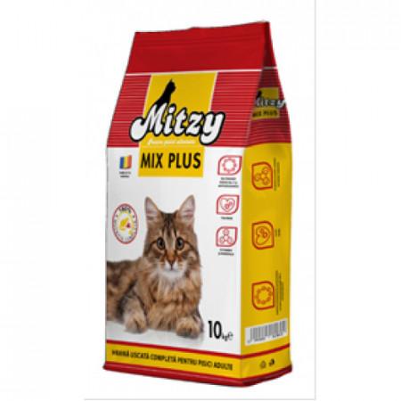 Hrana uscata economica pentru pisici Mitzy Mix Plus 10 kg